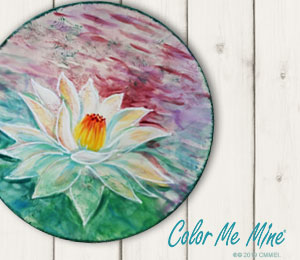 Toms River Lotus Flower Plate